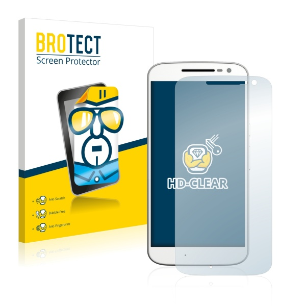 2x BROTECTHD-Clear Screen Protector Motorola Moto G4