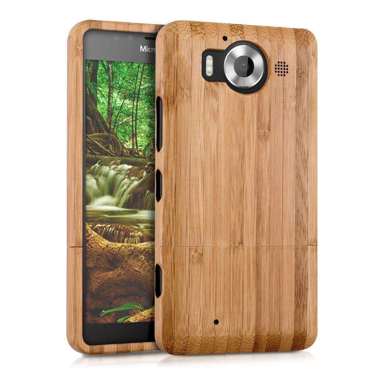 Pouzdro pro Microsoft Lumia 950 bambus
