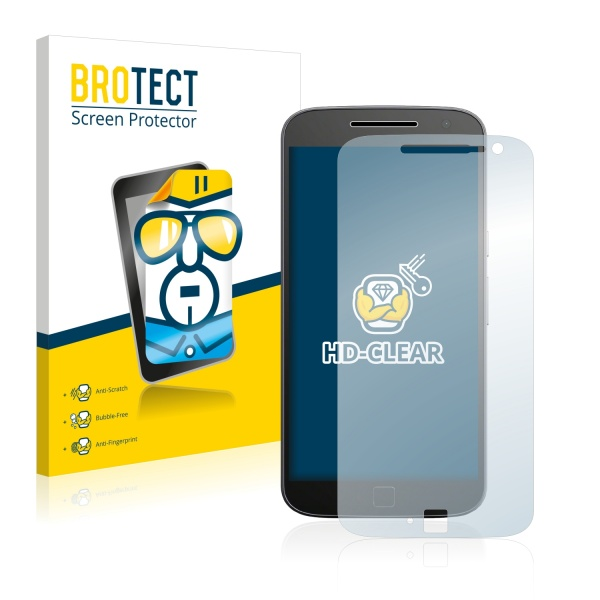 2x BROTECTHD-Clear Screen Protector Motorola Moto G4 Plus
