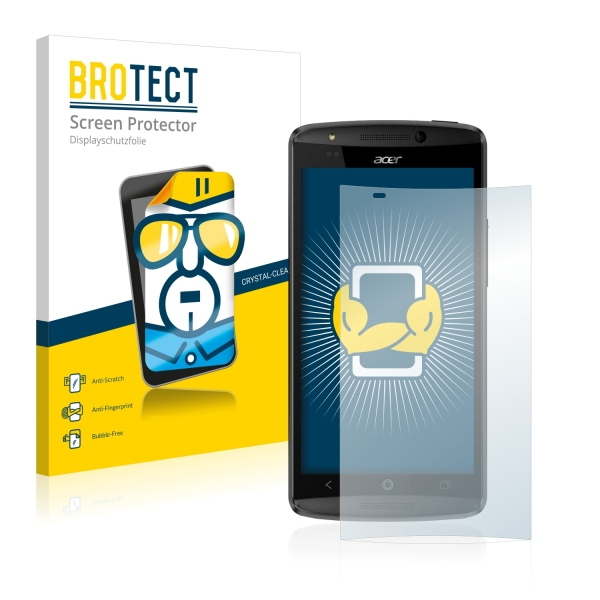 2x BROTECTHD-Clear Screen Protector Acer Liquid E700