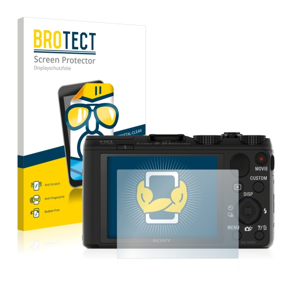 2x BROTECTHD-Clear Screen Protector Sony Cyber-shot DSC-HX50V