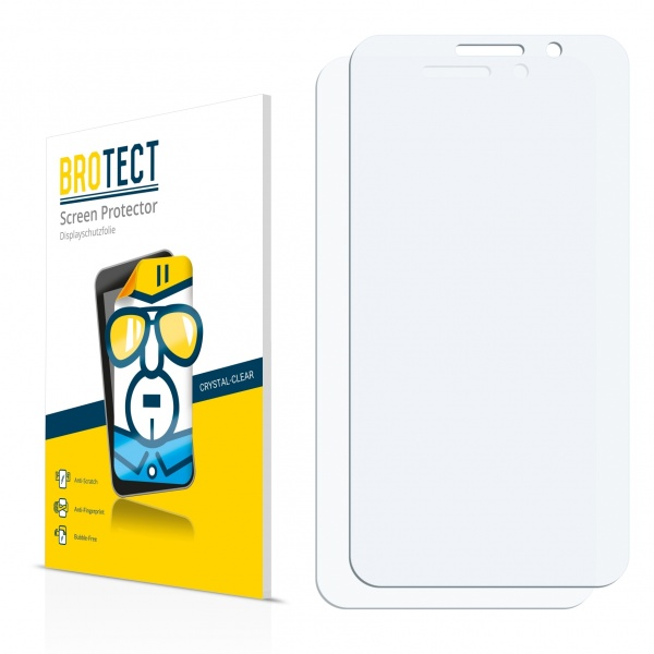 2x BROTECTHD-Clear Screen Protector Vodafone Smart Turbo 7