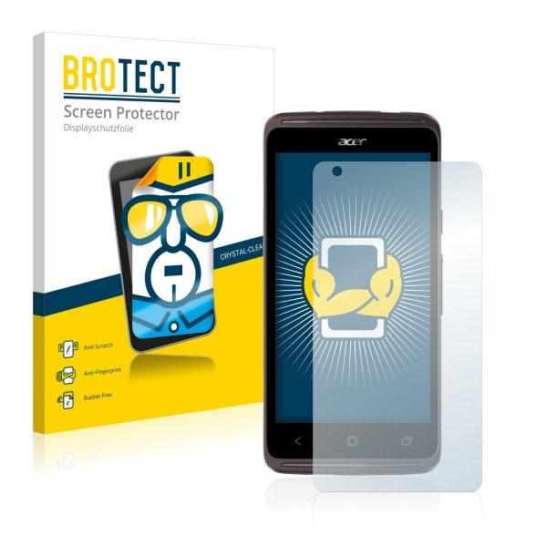 2x BROTECTHD-Clear Screen Protector Acer Liquid Z410