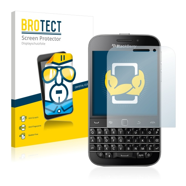 2x BROTECTHD-Clear Screen Protector Blackberry Classic Q20
