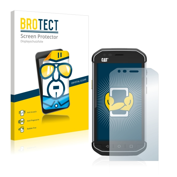 2x BROTECTHD-Clear Screen Protector Caterpillar Cat S40