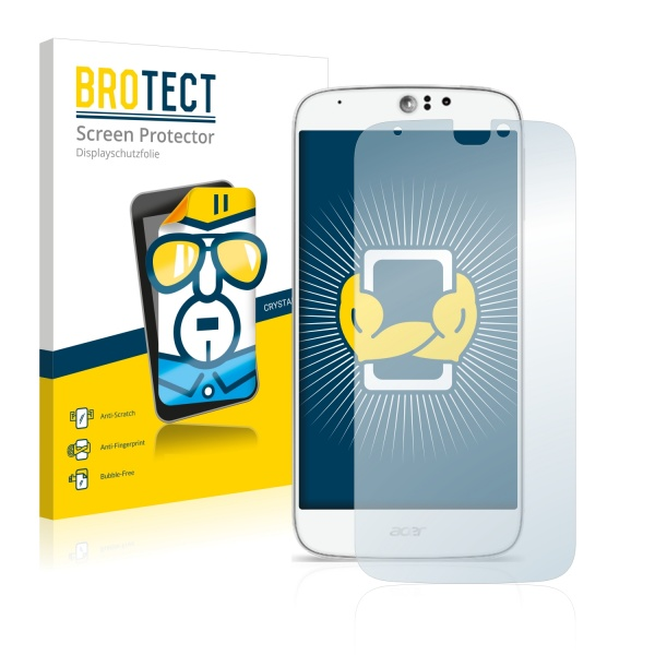 2x BROTECTHD-Clear Screen Protector Acer Liquid Jade Z