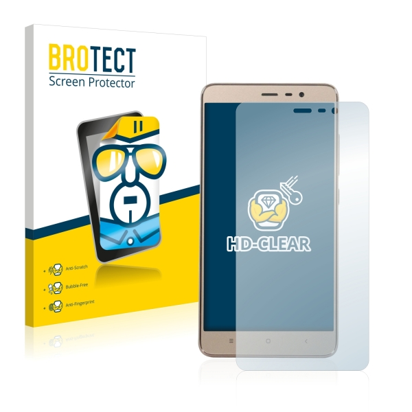 2x BROTECTHD-Clear Screen Protector Xiaomi Redmi Note 3 Pro