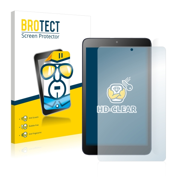 2x BROTECTHD-Clear Screen Protector Alcatel Pixi 3 (8.0)