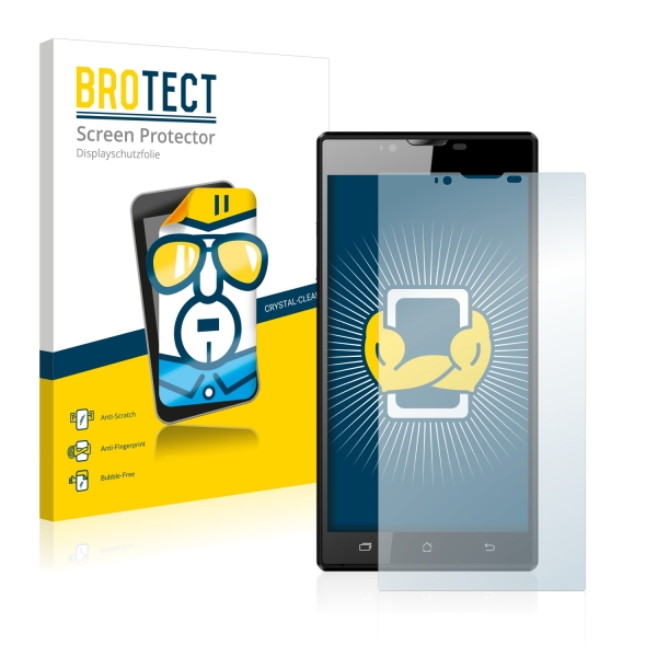 2x BROTECTHD-Clear Screen Protector Archos 55 Platinum
