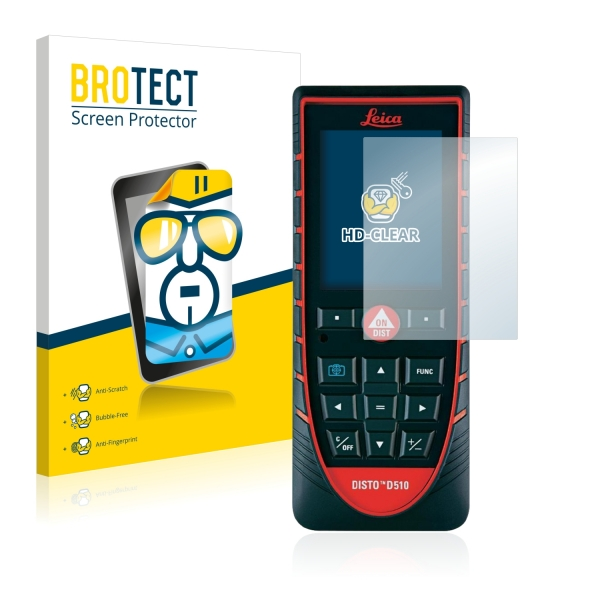 2x BROTECTHD-Clear Screen Protector Leica DISTO D510