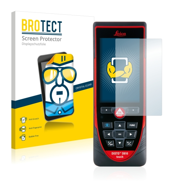 2x BROTECTHD-Clear Screen Protector Leica DISTO D810 touch