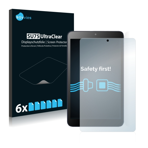 6x SU75 UltraClear Screen Protector Alcatel Pixi 3 (8.0)