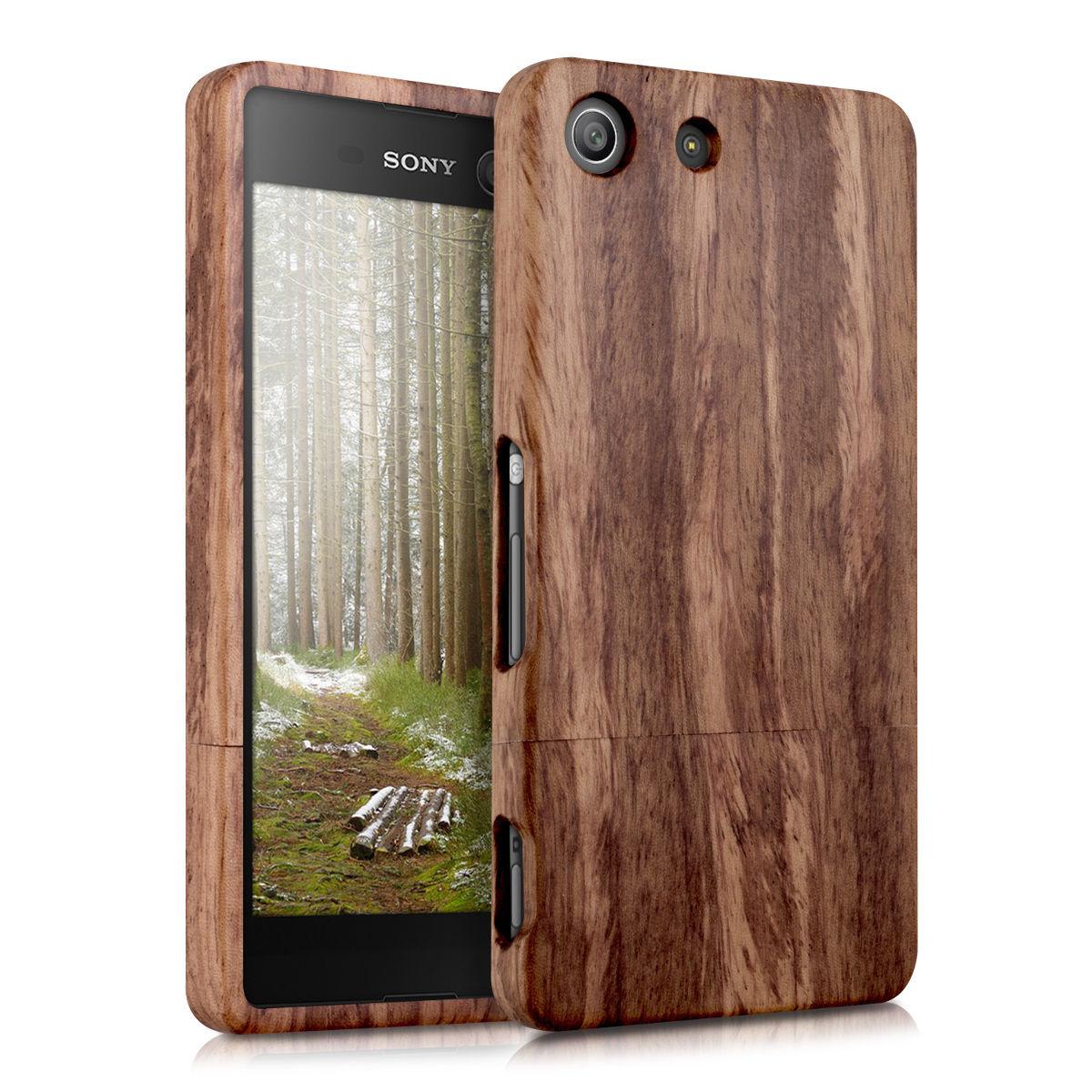 Pouzdro pro Sony Xperia M5 dřevo