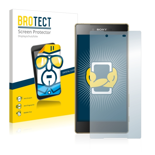 2x BROTECTHD-Clear Screen Protector Sony Xperia Z5 Premium