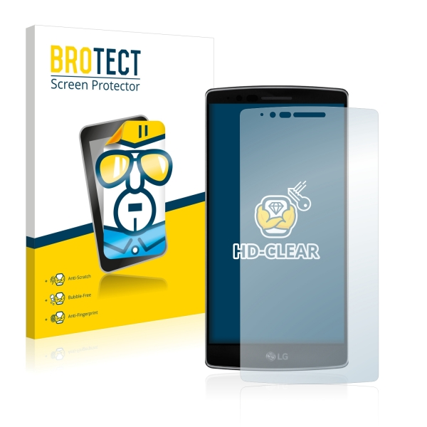 2x BROTECTHD-Clear Screen Protector LG G Flex 2