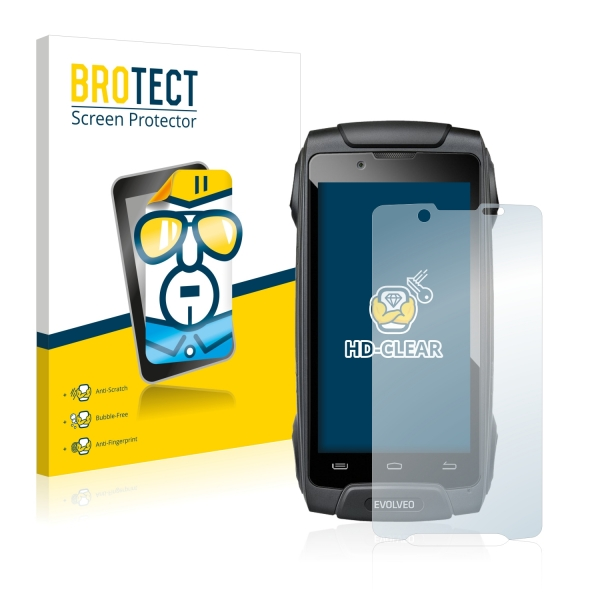 2x BROTECTHD-Clear Screen Protector Evolveo StrongPhone Q8 LTE