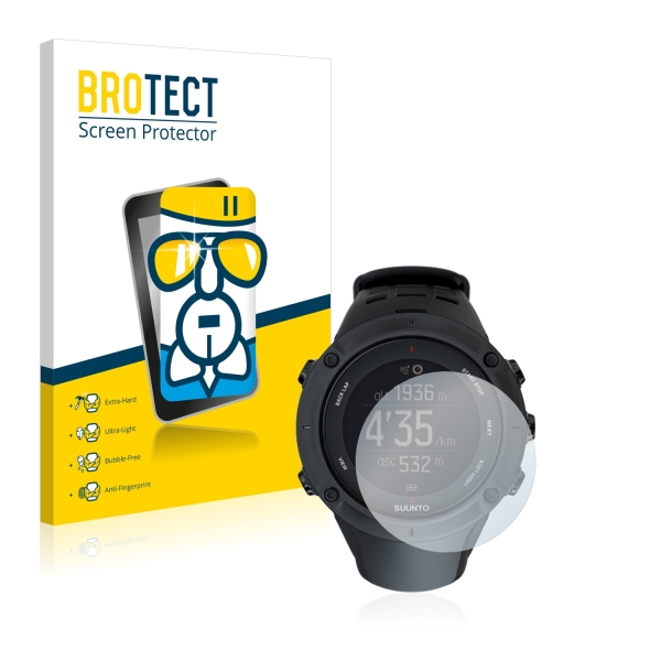 AirGlass Premium Glass Screen Protector Suunto Ambit3 Peak Black