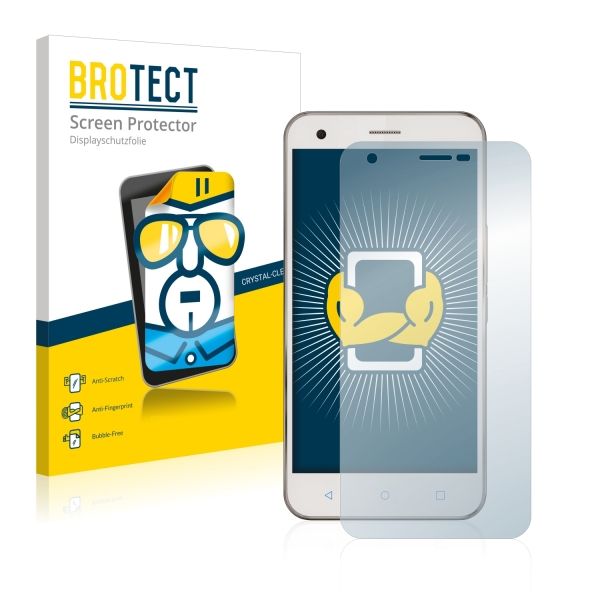 2x BROTECTHD-Clear Screen Protector Vodafone Smart Ultra 6