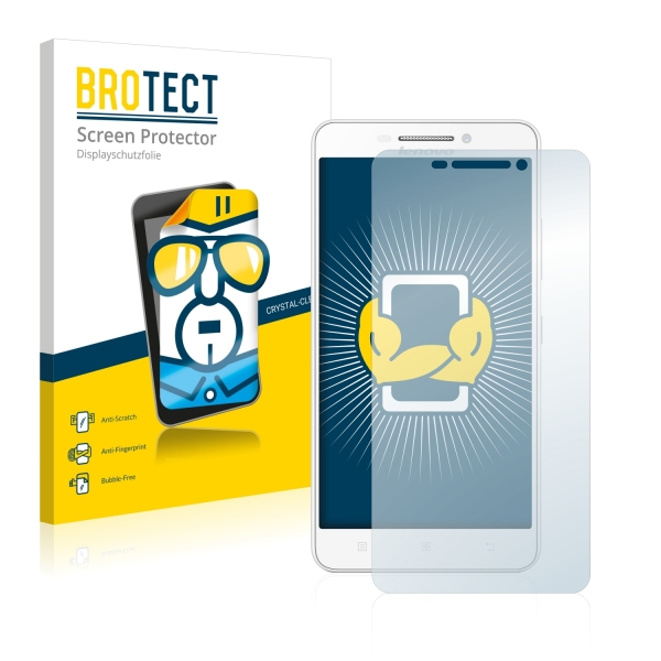 2x BROTECTHD-Clear Screen Protector Lenovo A5000