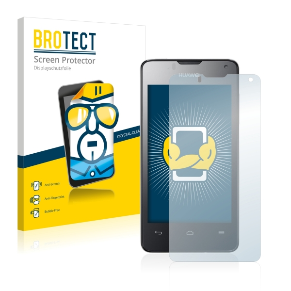 2x BROTECTHD-Clear Screen Protector Huawei Ascend Y300