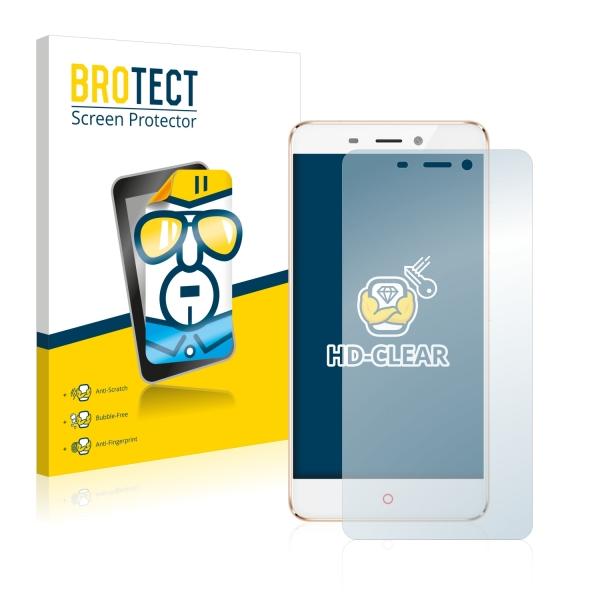 2x BROTECTHD-Clear Screen Protector ZTE Nubia N1