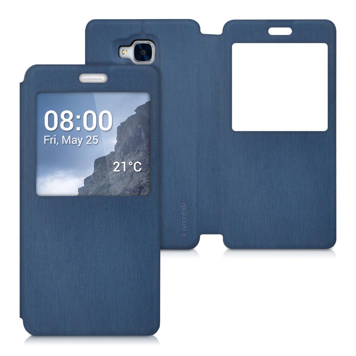 Pouzdro WIN pro Huawei Honor 7 Lite modré