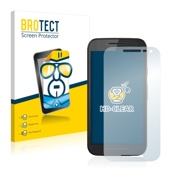 2x BROTECTHD-Clear Screen Protector Motorola Moto G 3rd (2015)