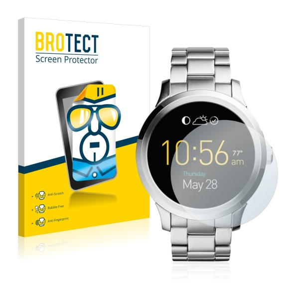 2x BROTECTHD-Clear Screen Protector Fossil Q Founder