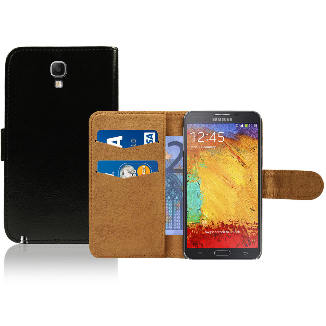 Pouzdro pro Samsung Galaxy Note 3 Neo černé