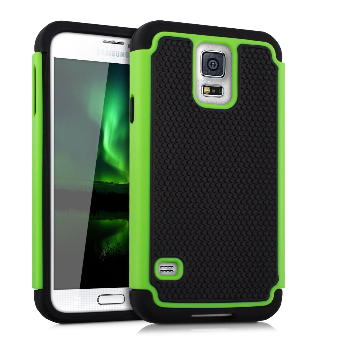Odolné pouzdro pro Samsung Galaxy S5 / Neo zelené