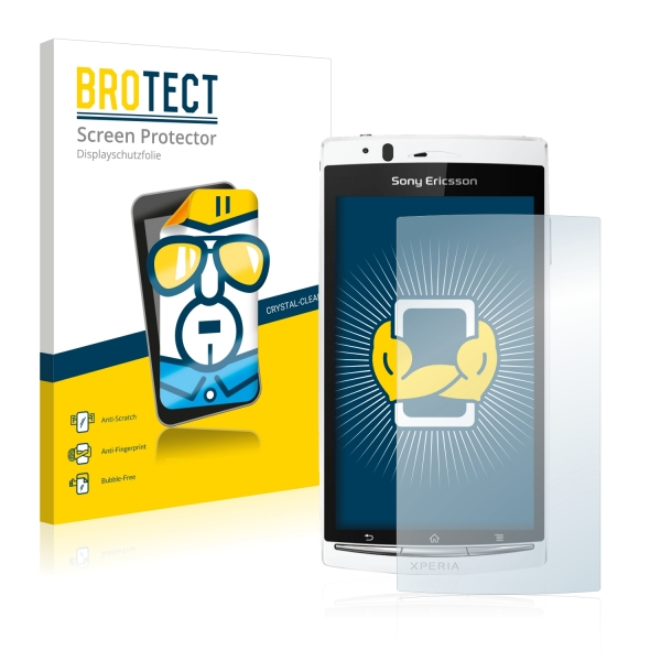 2x BROTECTHD-Clear Screen Protector Sony Ericsson Xperia Arc S LT18i
