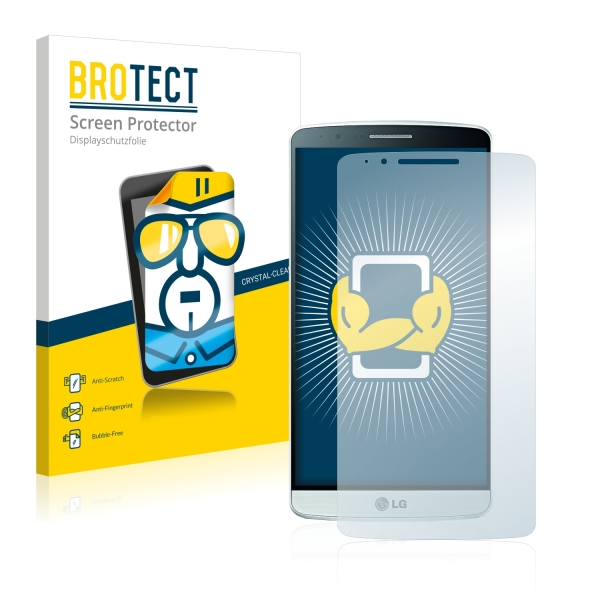 2x BROTECTHD-Clear Screen Protector LG G3 D855