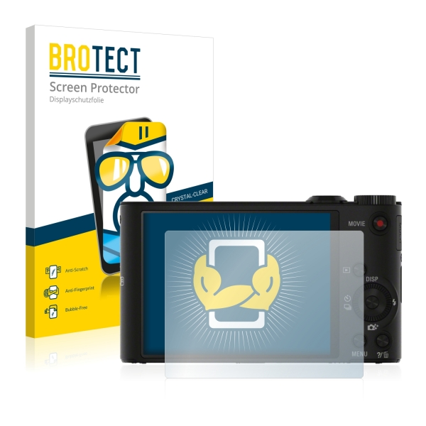 2x BROTECTHD-Clear Screen Protector Sony Cyber-shot DSC-WX350