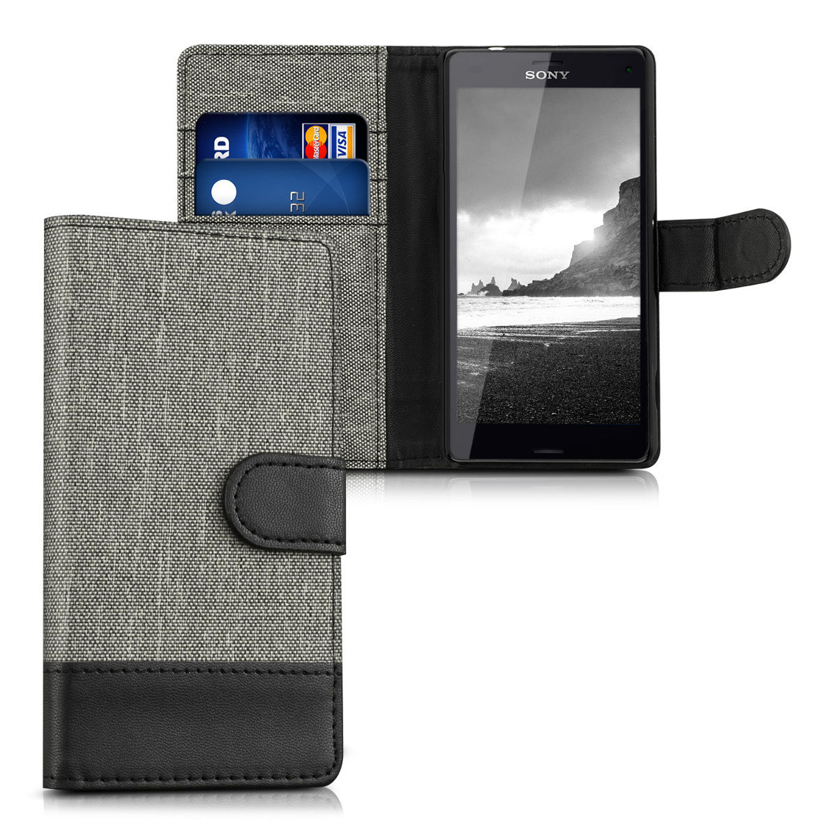 Pouzdro pro Sony Xperia Z3 Compact šedé