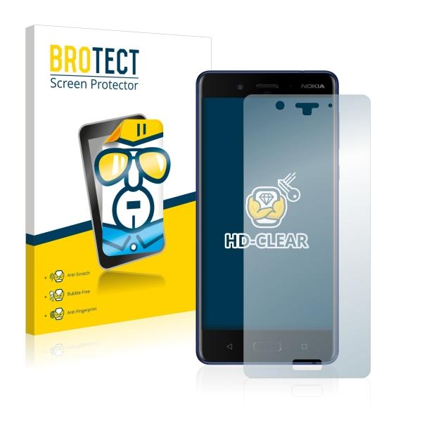 2x BROTECTHD-Clear Screen Protector Nokia 8