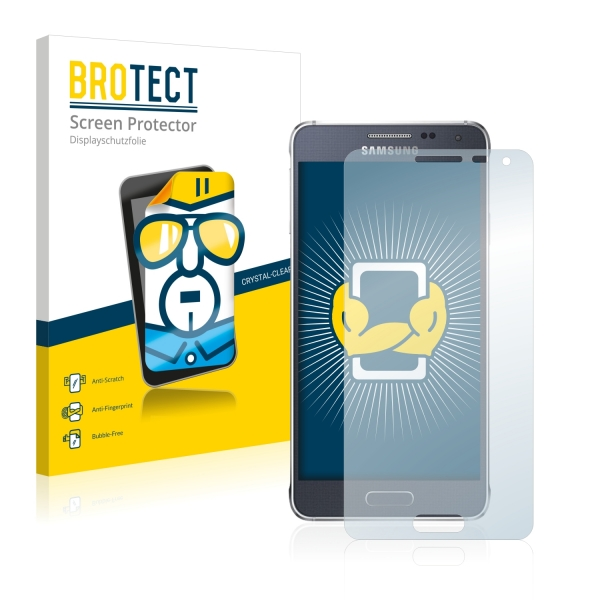2x BROTECTHD-Clear Screen Protector Samsung Galaxy Alpha SM-G850F
