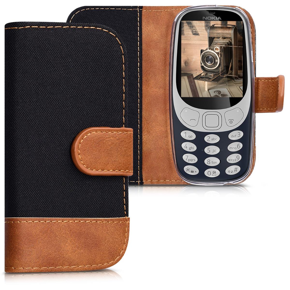 Pouzdro pro Nokia 3310 (2017) černo - hnědé