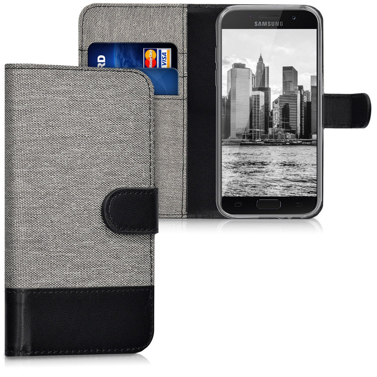 Pouzdro pro Samsung Galaxy A3 (2017) šedé