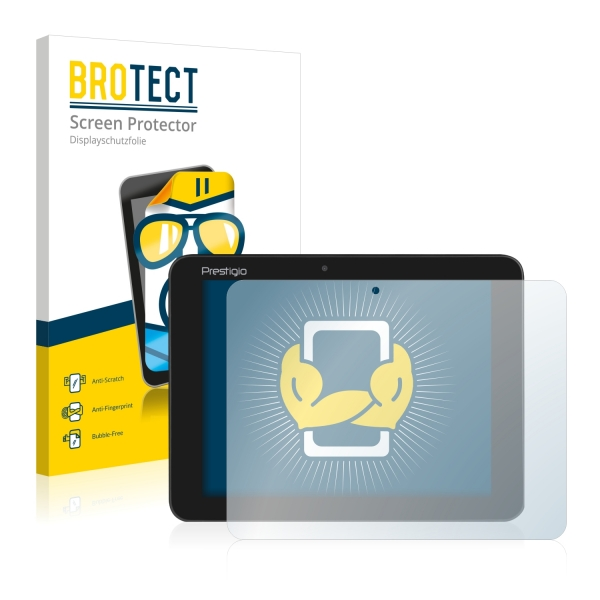 2x BROTECTHD-Clear Screen Protector Prestigio MultiPad Ranger 8.0