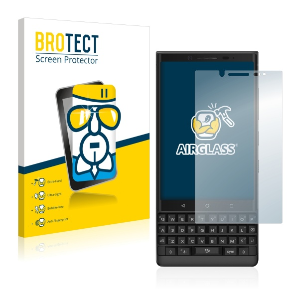 AirGlass Premium Glass Screen Protector BlackBerry Key2