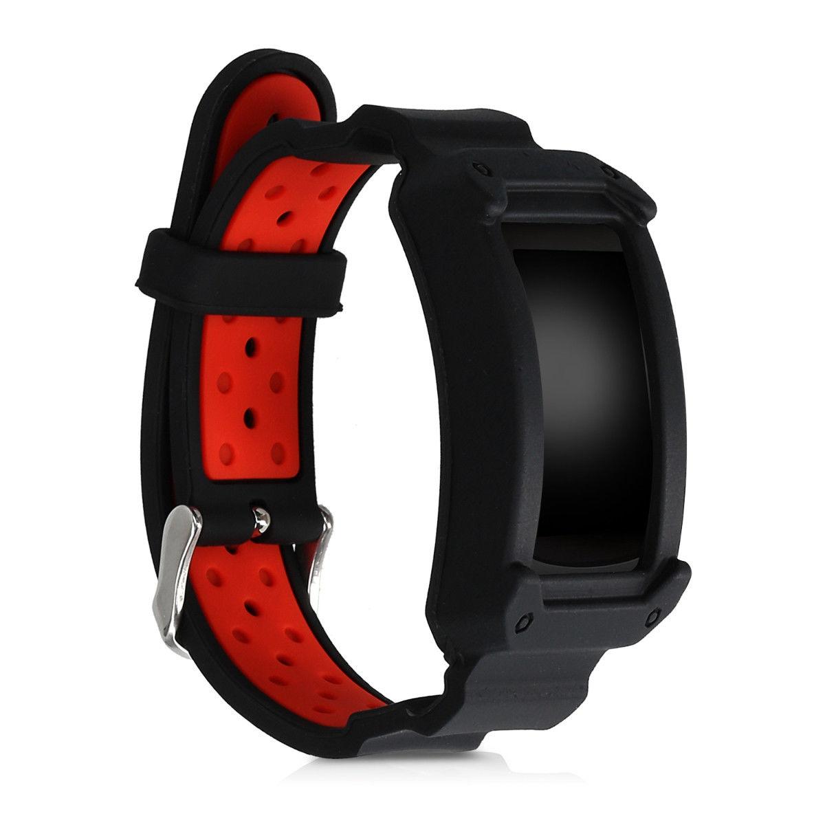 Náhradní řemínek pro Samsung Gear Fit2 černo - červený