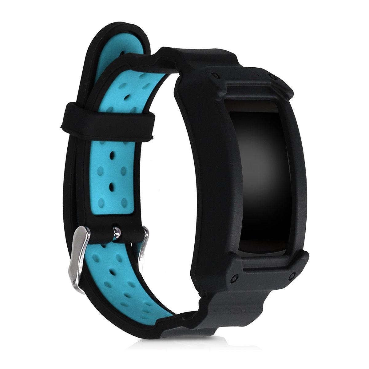 Náhradní řemínek pro Samsung Gear Fit2 černo - modrý