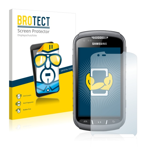 2x BROTECTHD-Clear Screen Protector Samsung Galaxy Xcover 2 S7710