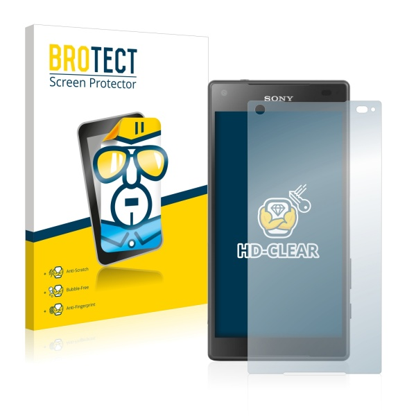 2x BROTECTHD-Clear Screen Protector Sony Xperia Z5 Compact