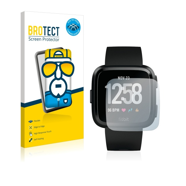 2x BROTECT Flex Full-Cover Protector Fitbit Versa