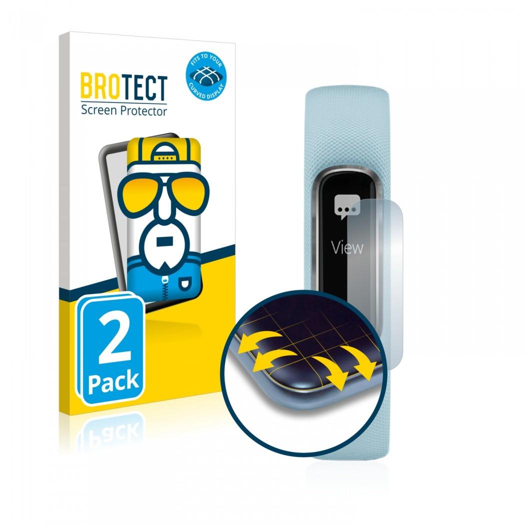 2x BROTECT Flex Full-Cover Protector Garmin Vivosmart 4