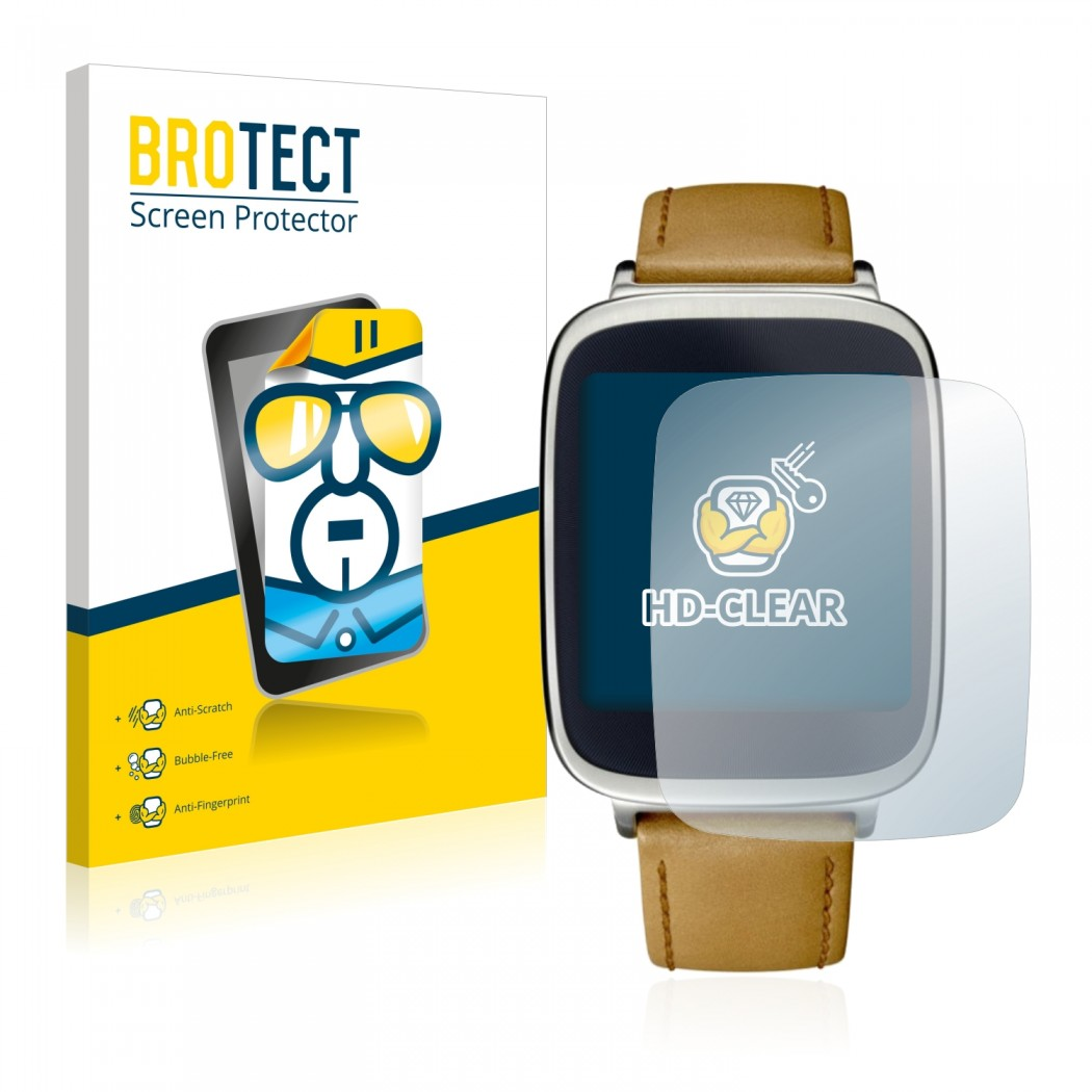 2x BROTECTHD-Clear Screen Protector Asus ZenWatch WI500Q