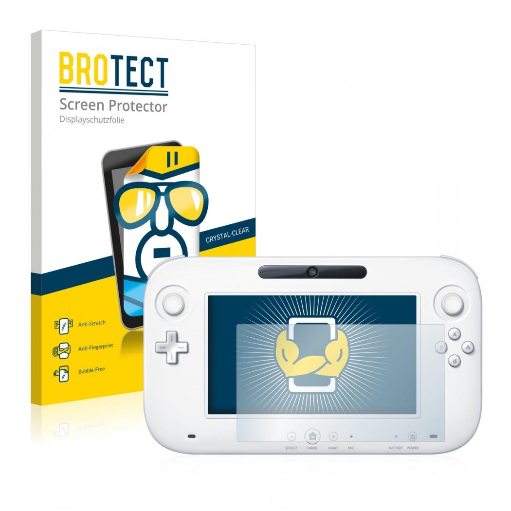 2x BROTECTHD-Clear Screen Protector Nintendo Wii U GamePad