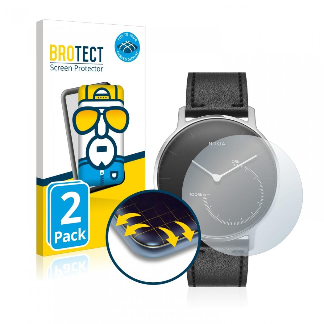 2x BROTECT Flex Full-Cover Protector Nokia Activité Steel
