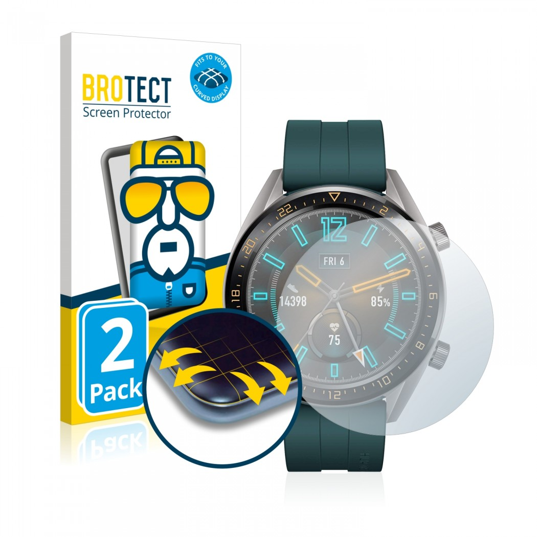 2x BROTECT Flex Full-Cover Protector Huawei Watch GT Active